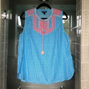 Embroidered J Crew top - size 12